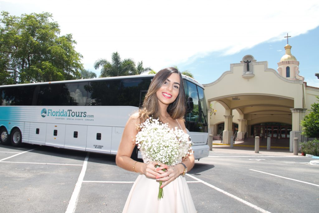 Charter a Luxury Bus for Your Wedding Transportation