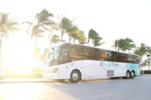 FloridaTours.com Bus in Fort Lauderdale Beach